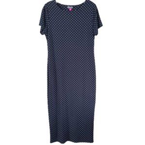 Vince Camuto Polka Dot Print Maxi Knit Dress S